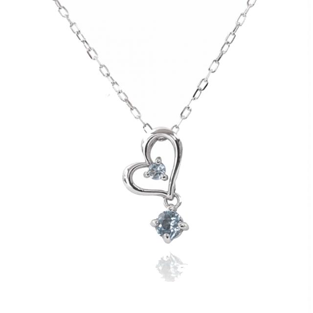 JewelryROLAブルートパーズハートネックレス