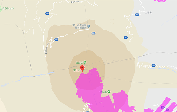 WiMAXのハイスピードプラスエリアモードも富士山で使える
