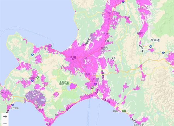 WiMAXは北海道の札幌エリアを中心に対応!